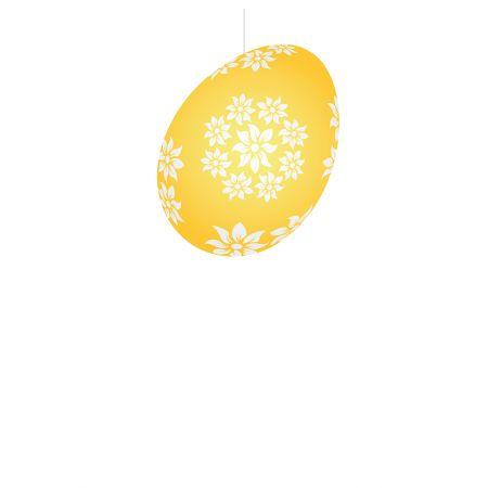 Πασχαλινό κρεμαστό αυγό κίτρινο 20cm