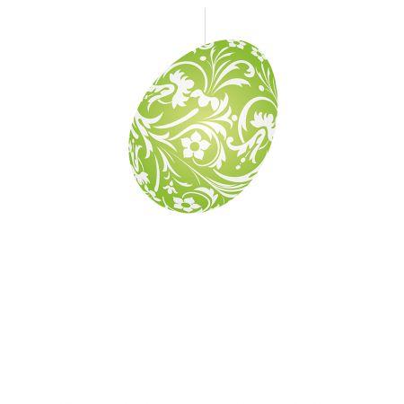 Πασχαλινό κρεμαστό αυγό χάρτινο Πράσινο 20cm
