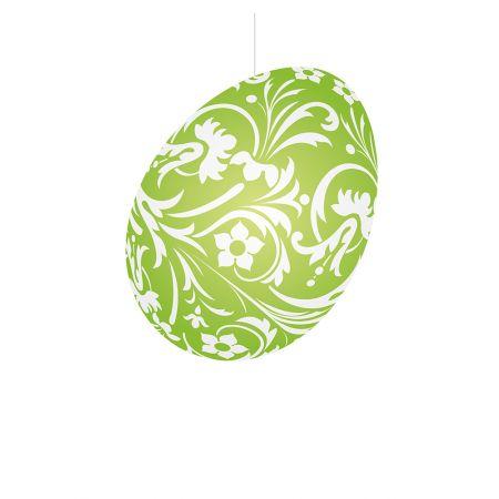 Πασχαλινό κρεμαστό αυγό πράσινο 30cm