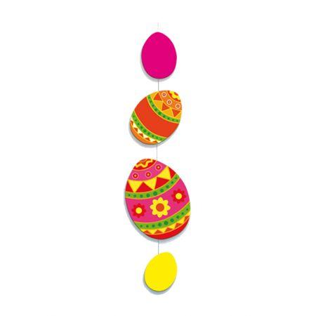 Διακοσμητική γιρλάντα για το Πάσχα με 4 αυγά 135x30cm