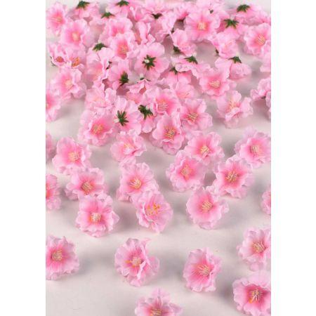 Σετ 72τχ διακοσμητικά άνθη κερασιάς, Ροζ 5cm