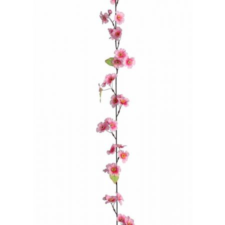Ανοιξιάτικη γιρλάντα με ροζ άνθη 165cm