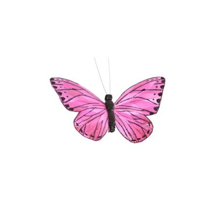 Διακοσμητική πεταλούδα με κλιπ Λιλά 20cm