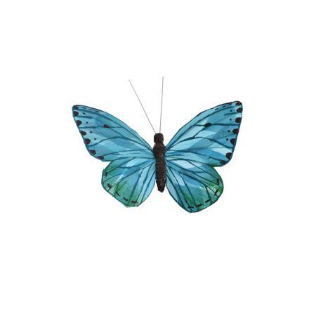 Διακοσμητική πεταλούδα με κλιπ Μπλε 20cm