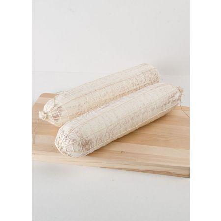 Σετ 2τμχ. Διακοσμητικά Λευκά σαλάμια σε δίχτυ - απομίμηση 42x9cm