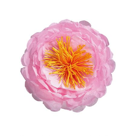 Διακοσμητικό χάρτινο λουλούδι ρόζ , 40cm
