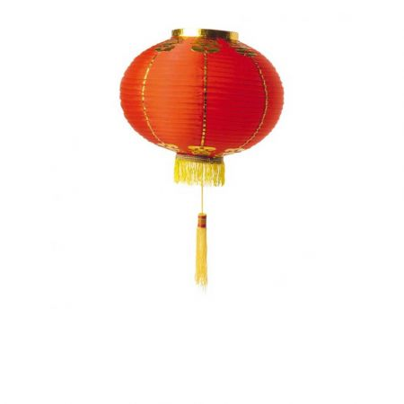 Διακοσμητικό Κινέζικο υφασμάτινο φαναράκι Κόκκινο 35cm