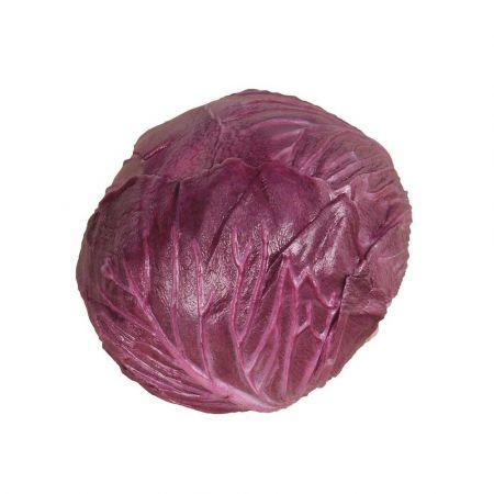 Διακοσμητικό λάχανο Μωβ απομίμηση 13cm