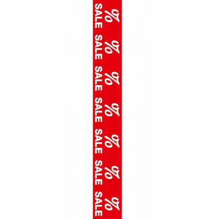 Αυτοκόλλητο για τις εκπτώσεις με το σήμα % 99x13cm