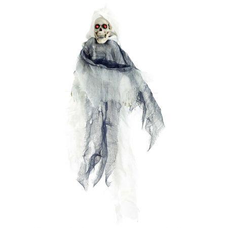 Διακοσμητικός σκελετός - φάντασμα φωτεινός με ήχο και κίνηση 45x50cm