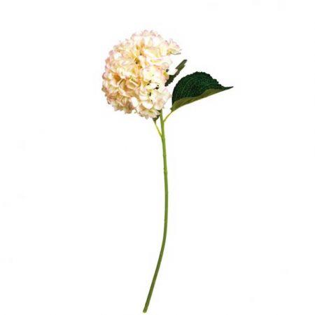 Διακοσμητικό λουλούδι Ορτανσία Κρεμ - Ροζ 80cm