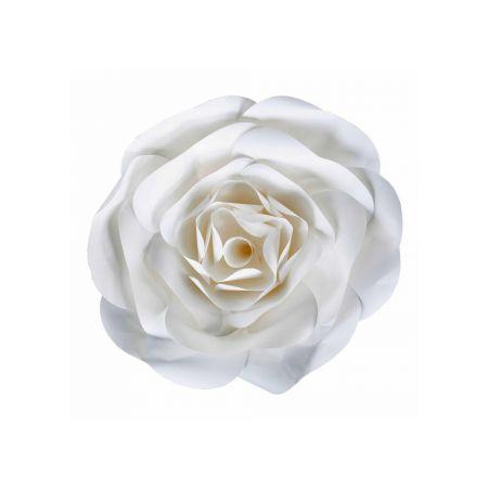XL Άνθος τριαντάφυλλου χάρτινο Λευκό 40cm