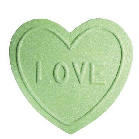 XL διακοσμητική καρδιά - ζαχαρωτό LOVE Πράσινη 40x40cm