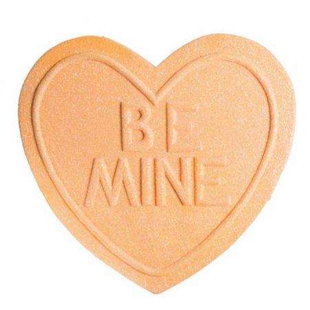 XL διακοσμητική καρδιά - ζαχαρωτό BE MINE Πορτοκαλί 40x40cm
