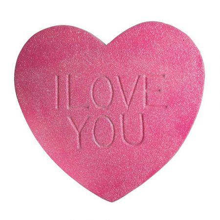 XL διακοσμητική καρδιά - ζαχαρωτό I LOVE YOU 40x40cm