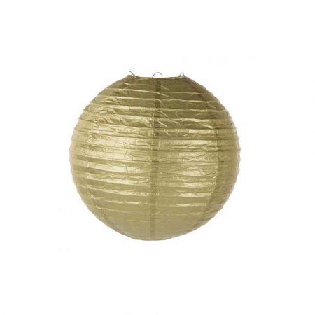 Διακοσμητικό φανάρι - μπάλα Χρυσό 30cm