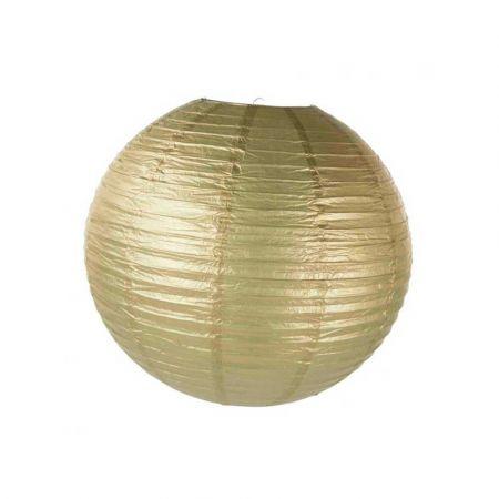 Διακοσμητικό φανάρι - μπάλα Χρυσό 60cm