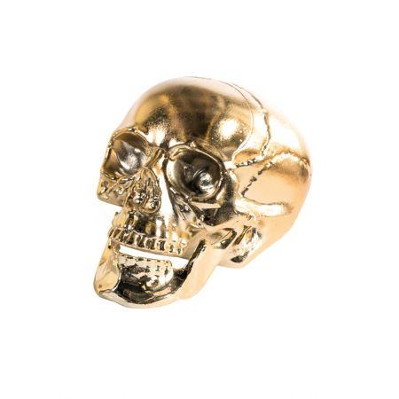Διακοσμητικό κρανίο - νεκροκεφαλή Χρυσό 16cm