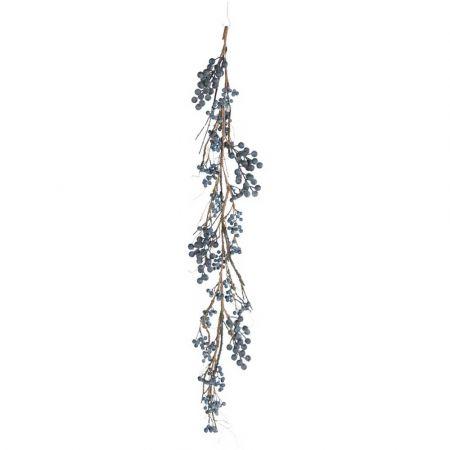 Διακοσμητική Φθινοπωρινή γιρλάντα με berries Μπλε 120cm