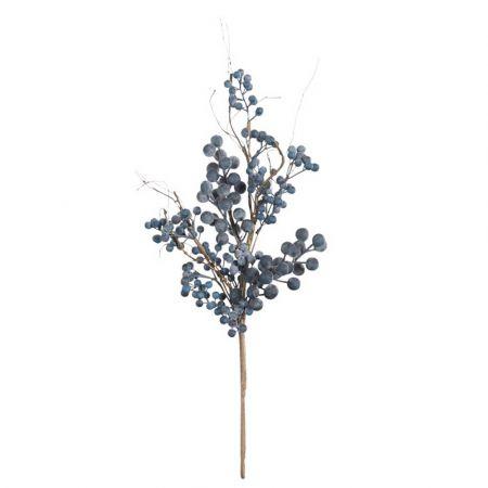 Διακοσμητικό Φθινοπωρινό Κλαδί με berries Μπλε 60cm
