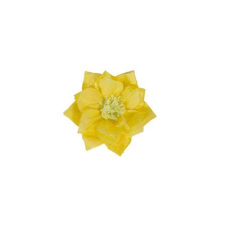 XL διακοσμητικό Χάρτινο άνθος Κίτρινο 30cm