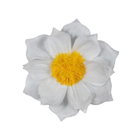 XL διακοσμητικό Χάρτινο άνθος Λευκό 60cm