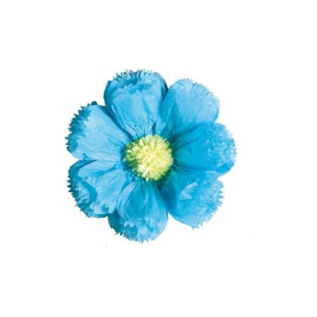 XL διακοσμητικό Χάρτινο άνθος Γαλάζιο 40cm