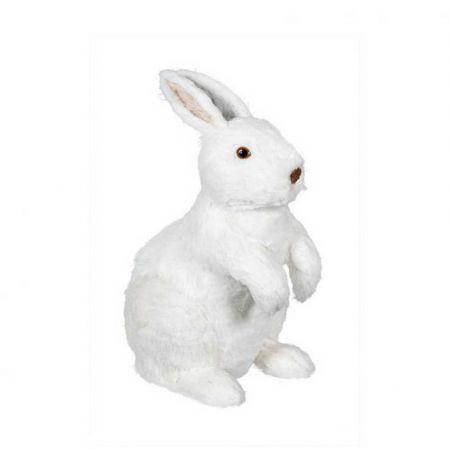 Διακοσμητικό λαγουδάκι καθιστό Λευκό 30cm