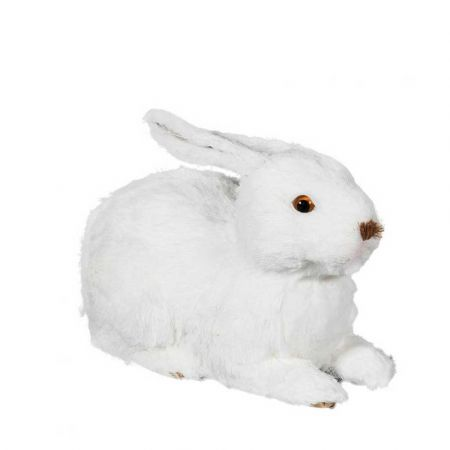 Διακοσμητικό λαγουδάκι ξαπλωτό Λευκό 25cm