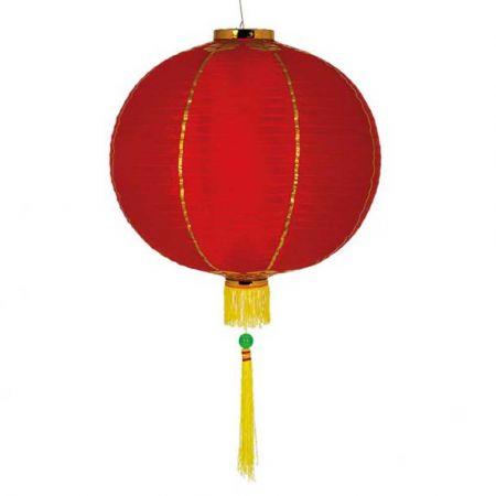 Διακοσμητικό Κινέζικο υφασμάτινο φαναράκι Κόκκινο 30cm