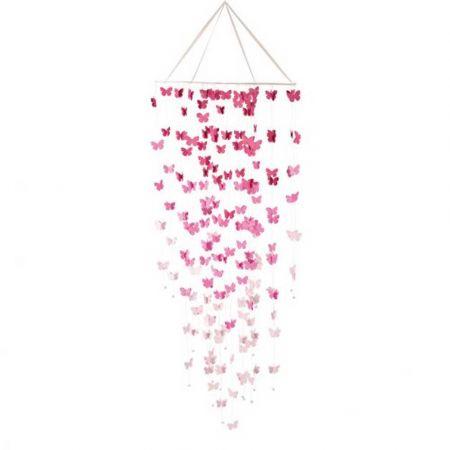 Διακοσμητικό οροφής με Ροζ και Λευκές πεταλούδες 80x200cm