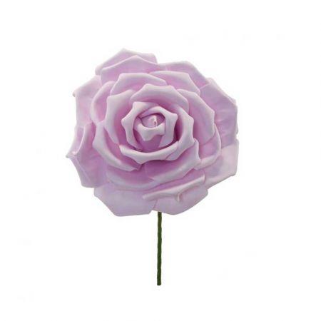 XL Διακοσμητικό άνθος τριαντάφυλλου foam Λιλά  30cm