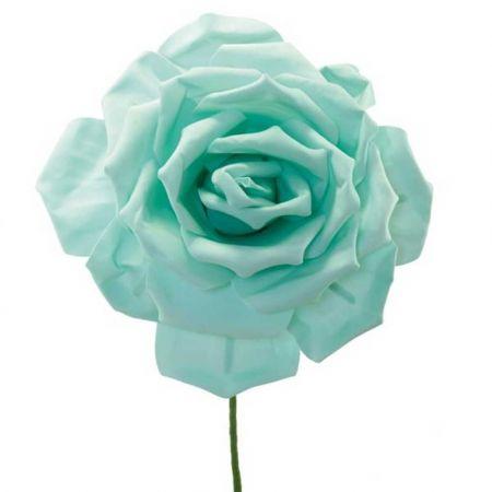 XL Διακοσμητικό άνθος τριαντάφυλλου foam βεραμάν 50cm