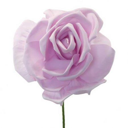 XL Διακοσμητικό άνθος τριαντάφυλλου foam Λιλά 50cm