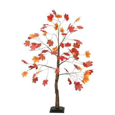 Διακοσμητικό τεχνητό δέντρο Φθινοπωρινό Σφένδαμος Κόκκινο - Πορτοκαλί 120cm