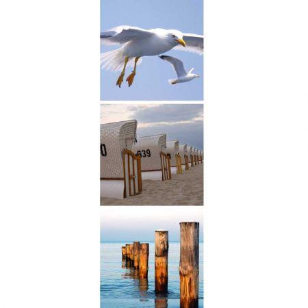 Διακοσμητική καλοκαιρινή αφίσα με Παραλία - Γλάρους 60x180cm
