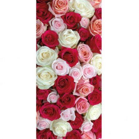 Διακοσμητική αφίσα Αγίου Βαλεντίνου - γάμου με τριαντάφυλλα 90x190cm