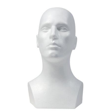 Διακοσμητικό Κεφάλι ανδρικό - προτομή Λευκό 40x54cm