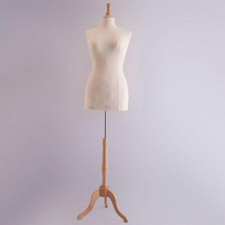 Classic Collection Γυναικείο Μπούστο Ραπτικής με Ξύλινη Τρίποδη Βάση