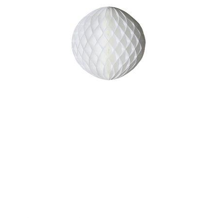 Χάρτινη μπάλα honeycomb - κυψελωτή Λευκή 20cm