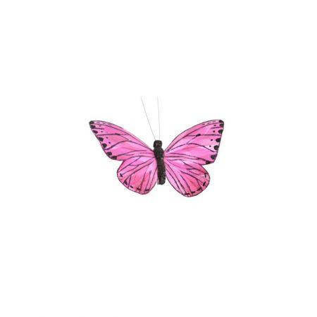 Διακοσμητική πεταλούδα με κλιπ Λιλά 15cm