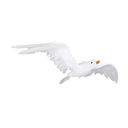 Διακοσμητικός γλάρος που πετάει Λευκό 50x24cm