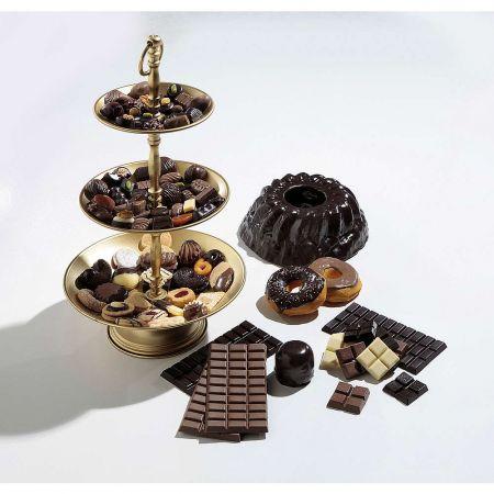 Διακοσμητικό donut με μαύρη σοκολάτα 9,5cm