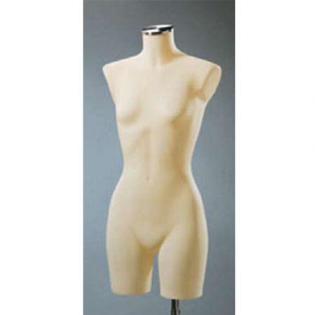 Γυναικείο μπούστο βιτρίνας (μακρύ) για μπλούζες και εσώρουχα Εκρού