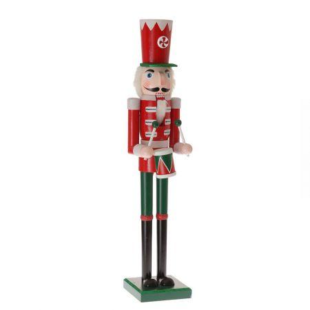 Διακοσμητικός Στρατιώτης - καρυοθραύστης,  Κόκκινο και Πράσινο, 80cm