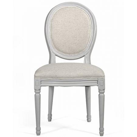 Καρέκλα Louis, σκελετός γκρι ανοιχτό