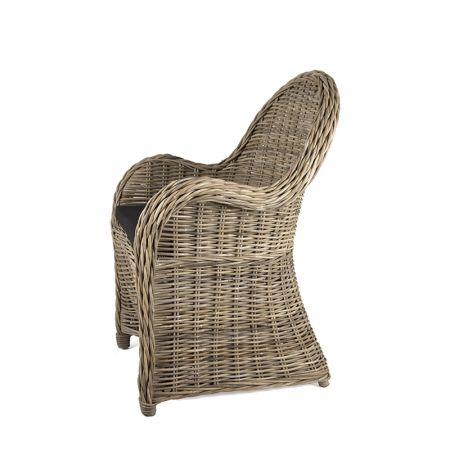 Πολυθρόνα από πραγματικό Kubu (full ) rattan με μαξιλάρι, 95cm