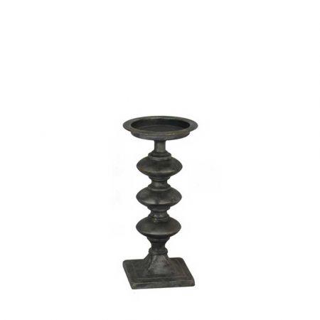 Μεταλλικό Κηροπήγιο Μαύρο 14x36cm