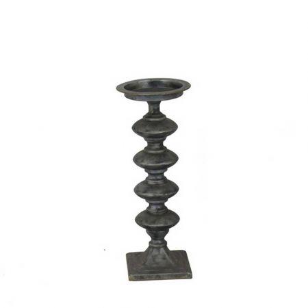 Μεταλλικό Κηροπήγιο Μαύρο 14x43cm