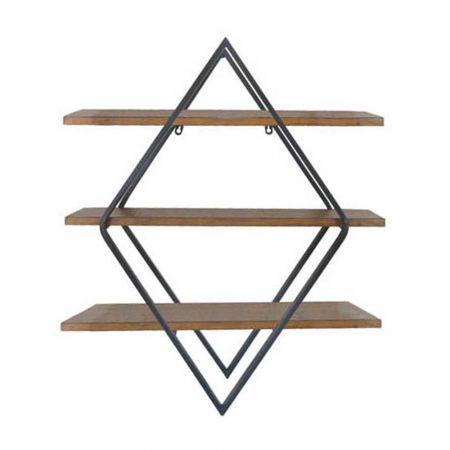 Επίτοιχα ράφια από ξύλο και μέταλλο 66x20x77cm